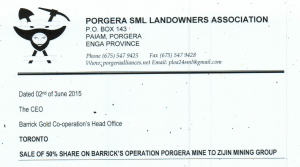 Screen Shot 2015 06 03 at 2.55.07 PM 300x167 Landowners respond to 50% sale of Porgera Mine to Zijin Mining Group
